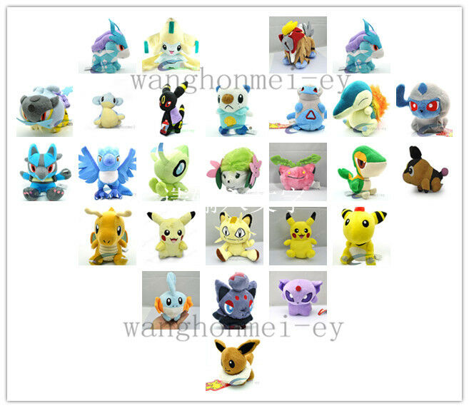Collection New pokemon Character Soft Stuffed Animal Plush 18 Changes