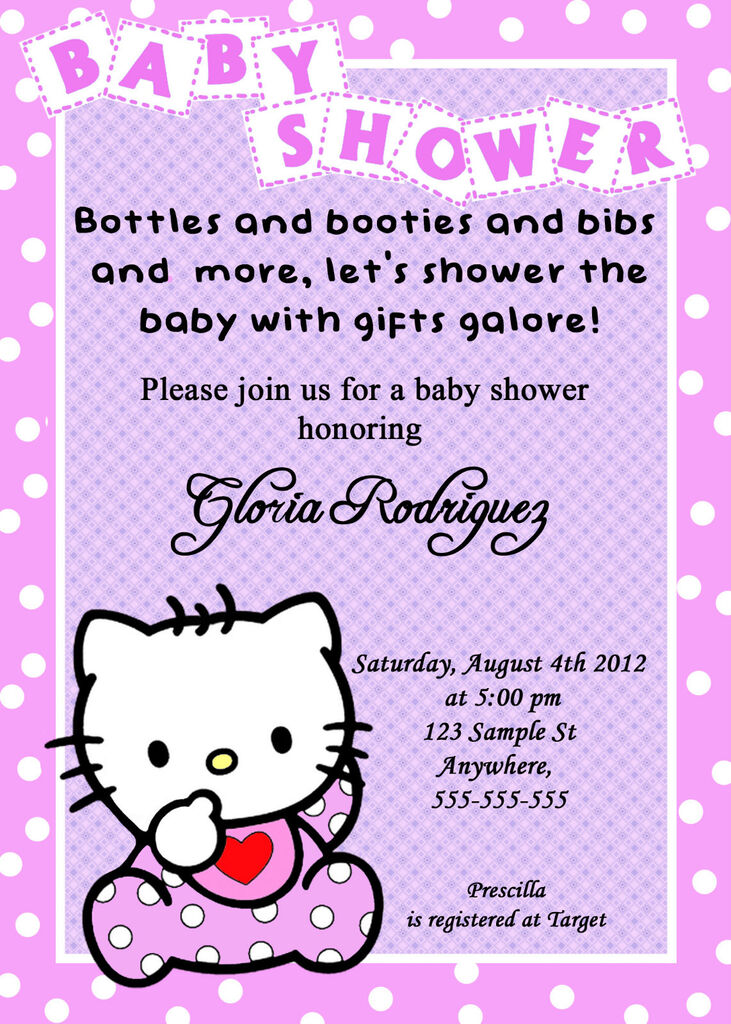 hello kitty baby shower invitations in home garden
