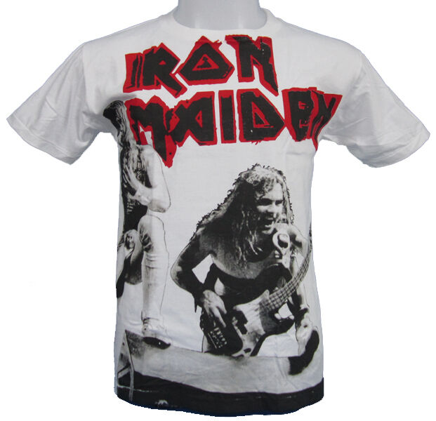 iron maiden white t shirt in Mens Clothing