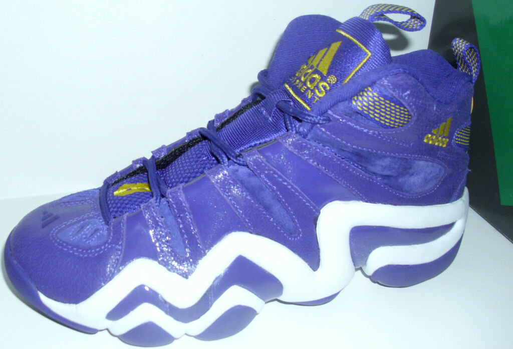 e0f190e1927d46 ADIDAS KOBE CRAZY 8 PURPLE YELLOW BASKETBALL HI TOP SHOES MENS on ...