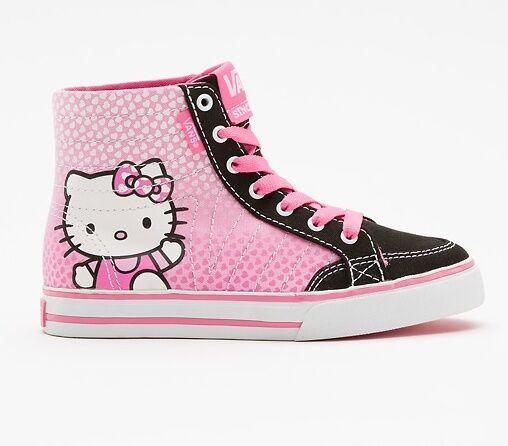 VANS Authentic Hello kitty Corrie HI VN 0NKF79J Sz 3.5Y 6Y NIB Youth