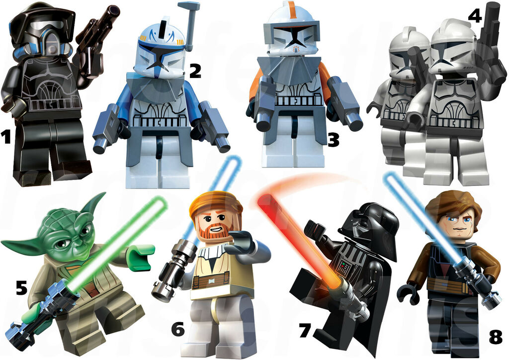 star wars lego sticker wall deco yoda storm troopers picture information