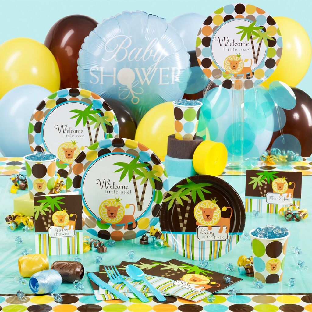 King of the Jungle Lion Boy Baby Shower Party Supplies   YOU PICK