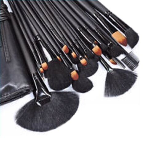 24 neri pennelli trucco make up brushes set pennelli da trucco professionale 