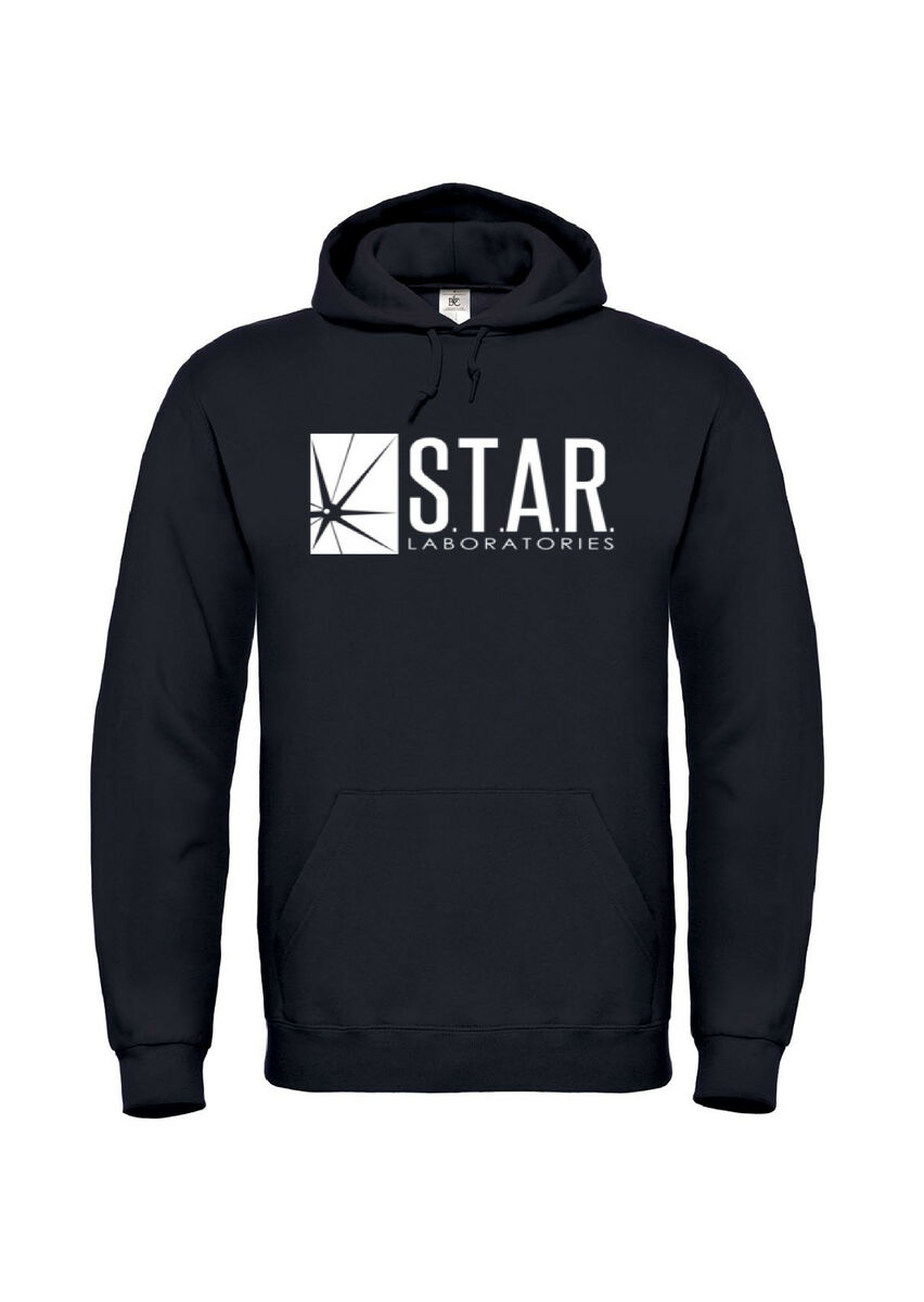 Felpa cappuccio the flash star s t a r labs logo barry allen comic tv 