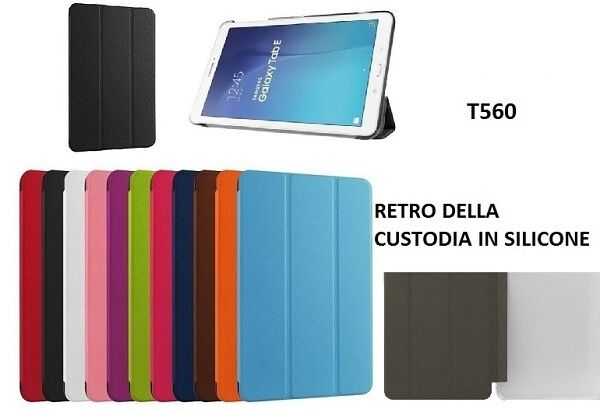 Smart cover slim samsung galaxy tab e 9 6 sm t560 sm t561 custodia tablet mnt 
