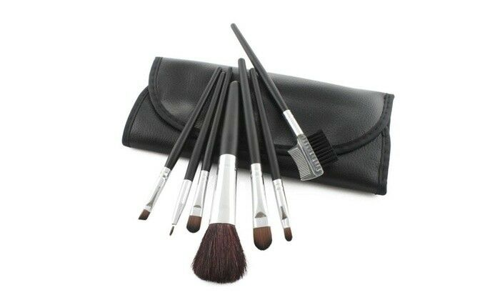 Set da 7 pennelli professionali per make up pennello trucco ombretto 
