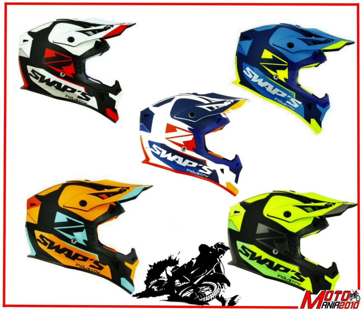 Casco moto cross enduro quad motard 2019 swap s blur s818 