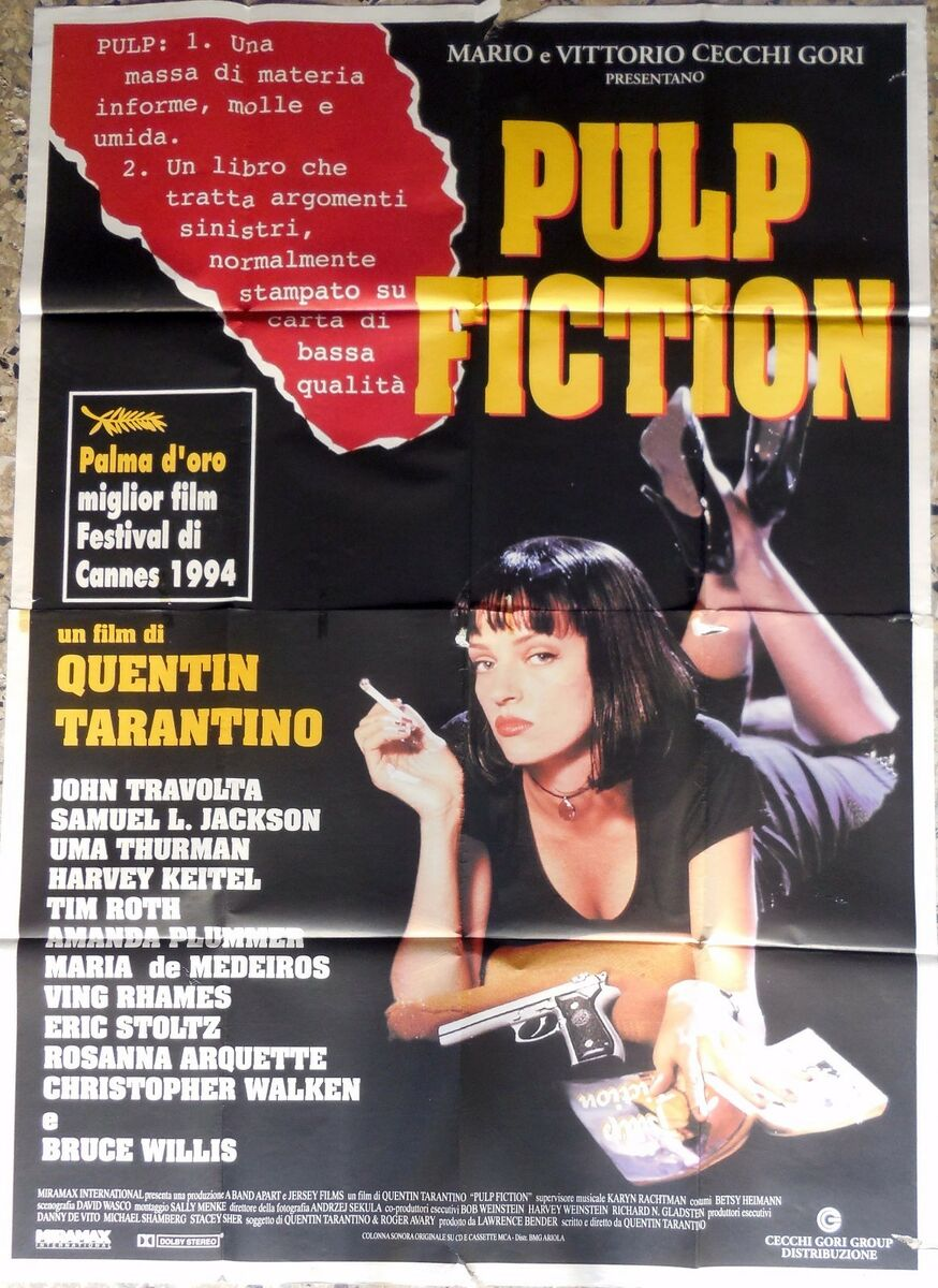Manifesto movie poster 4f pulp fiction quentin tarantino uma thurman cinema 