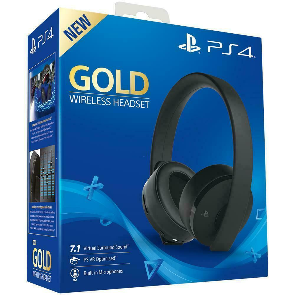 Cuffie gold wireless sony playstation 4 2 0 stereo gioco headset videogames ps4 Prezzo: € 97,90