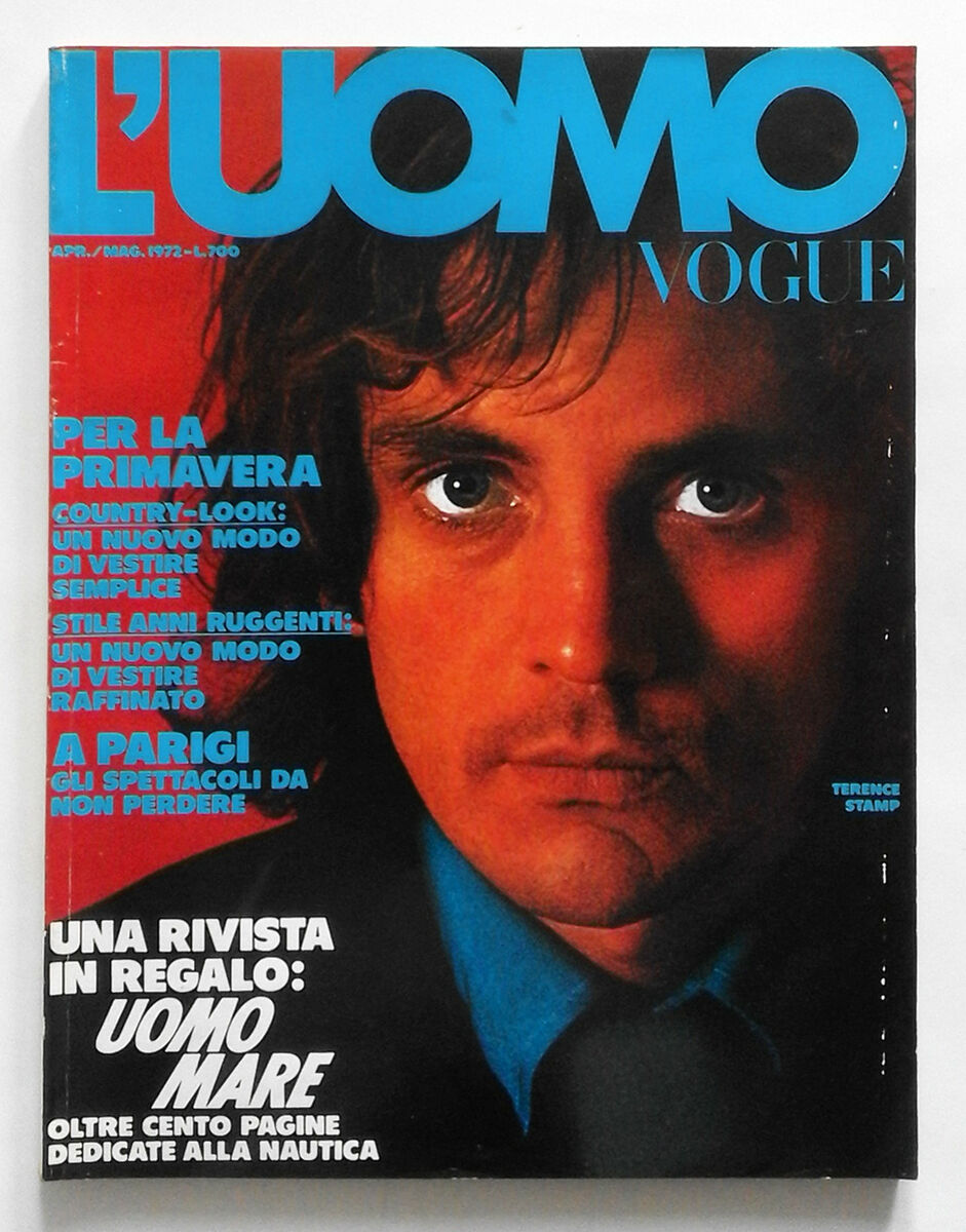 L uomo vogue n 17 1972 cover terence stamp inside oliviero toscani a warhol Prezzo: € 15,00