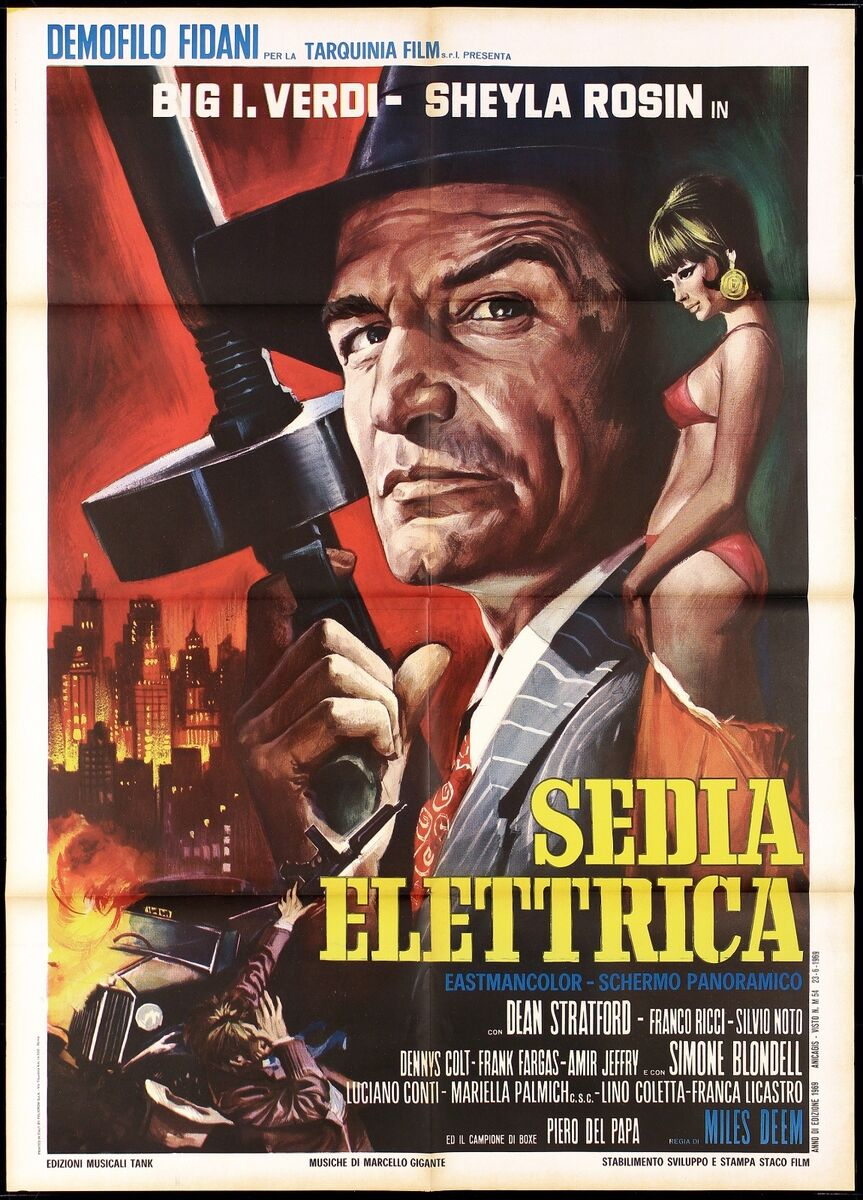 Sedia elettrica manifesto cinema film casaro sexy art gangster movie poster 2f 