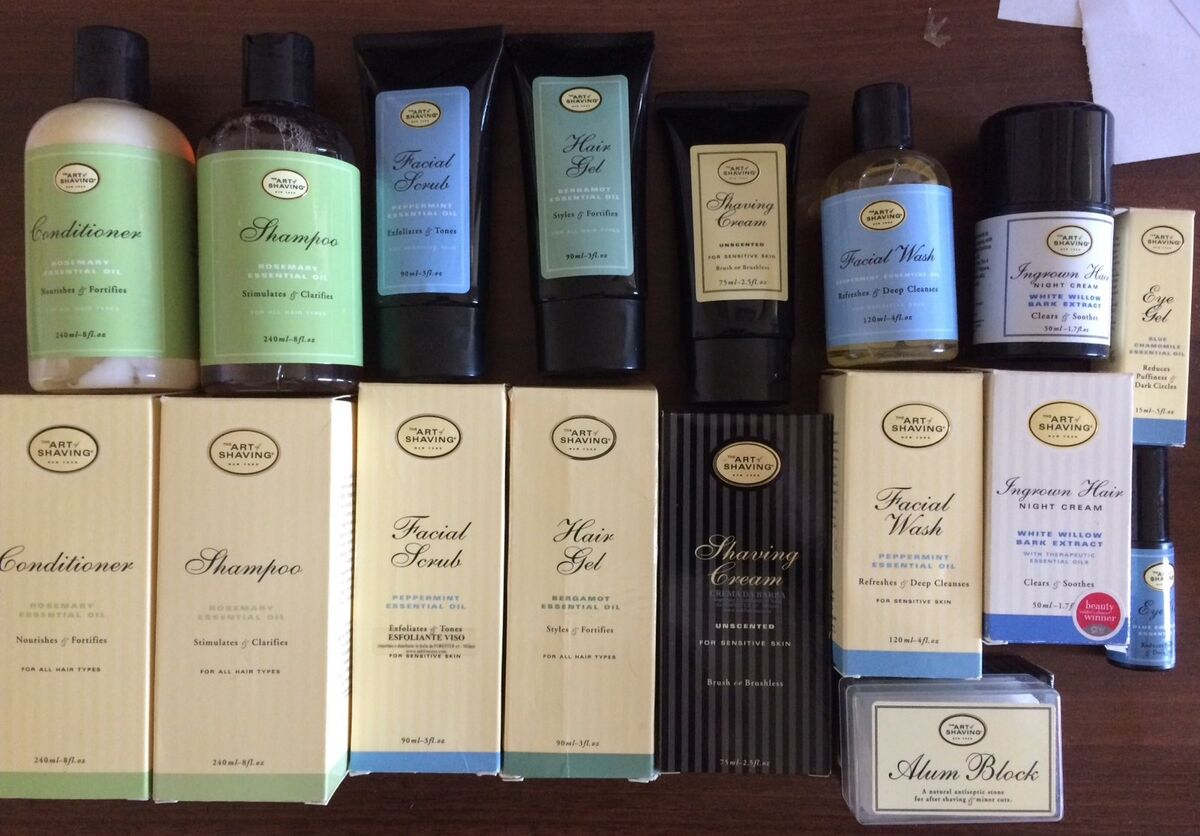 Stock 9 art of shaving wet shave cream shampoo alum hair balm gel scrub ingrown 
