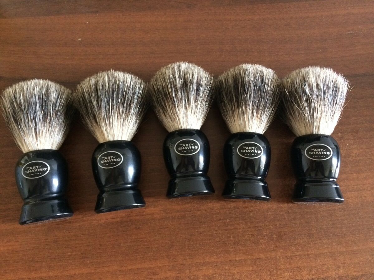 Stock 5 pezzi the art of shaving pennello tasso pure badger hand made brush 