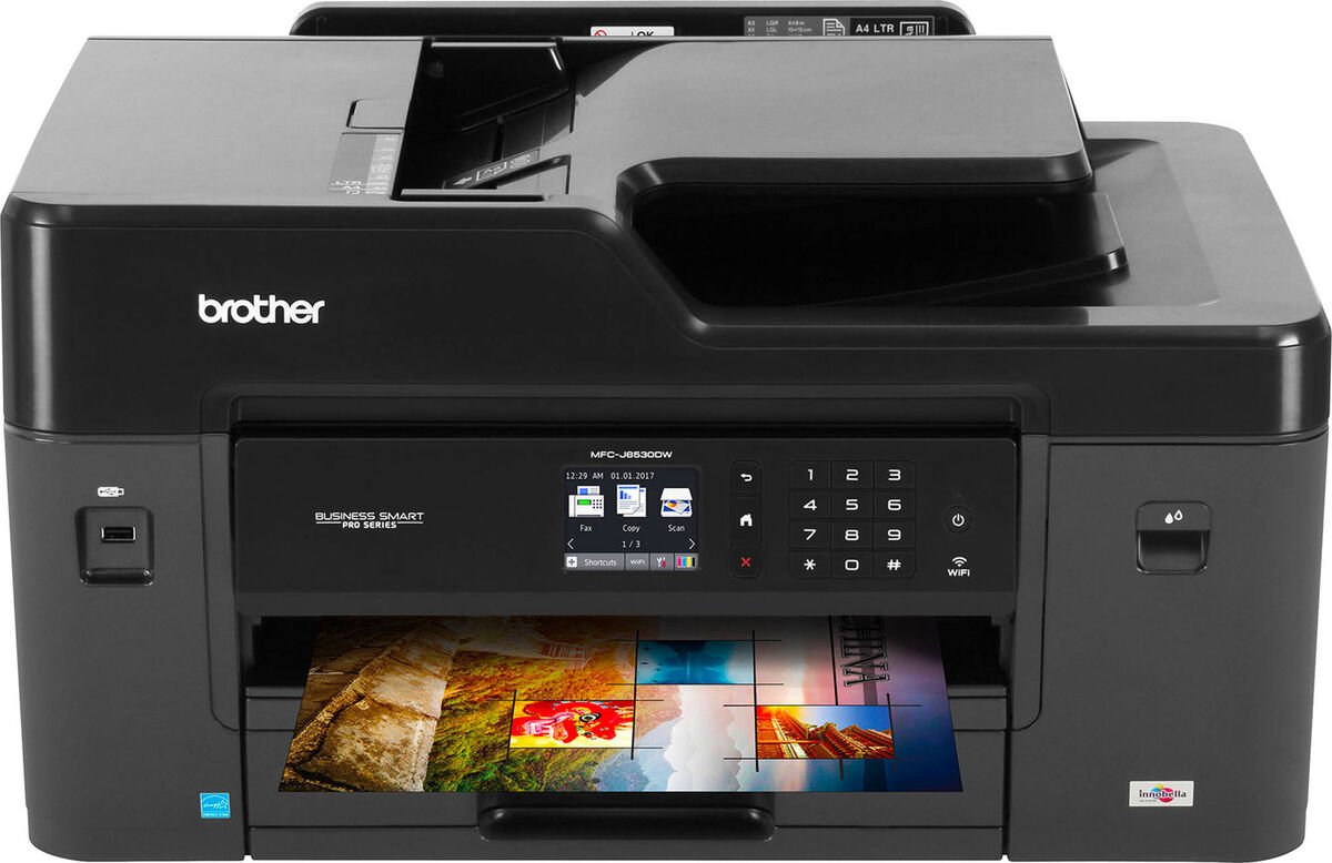 Stampante multifunzione wifi brother inkjet a3 wireless scanner fax mfc j6530dw 