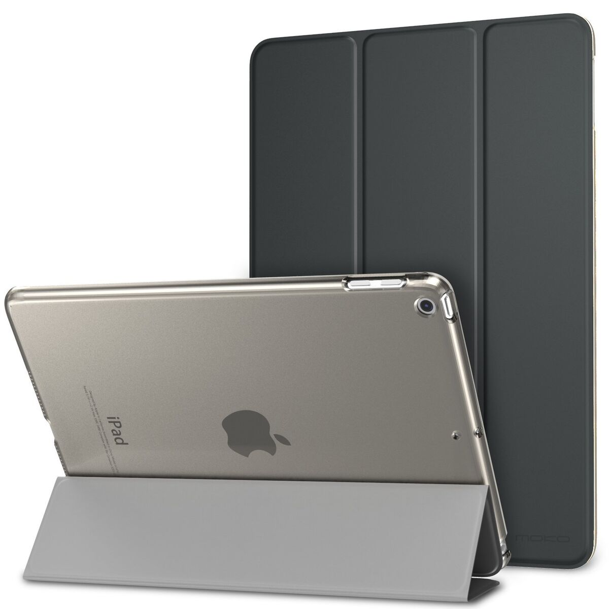 Smart cover integrale custodia supporto per apple ipad 9 7 2018 nera 