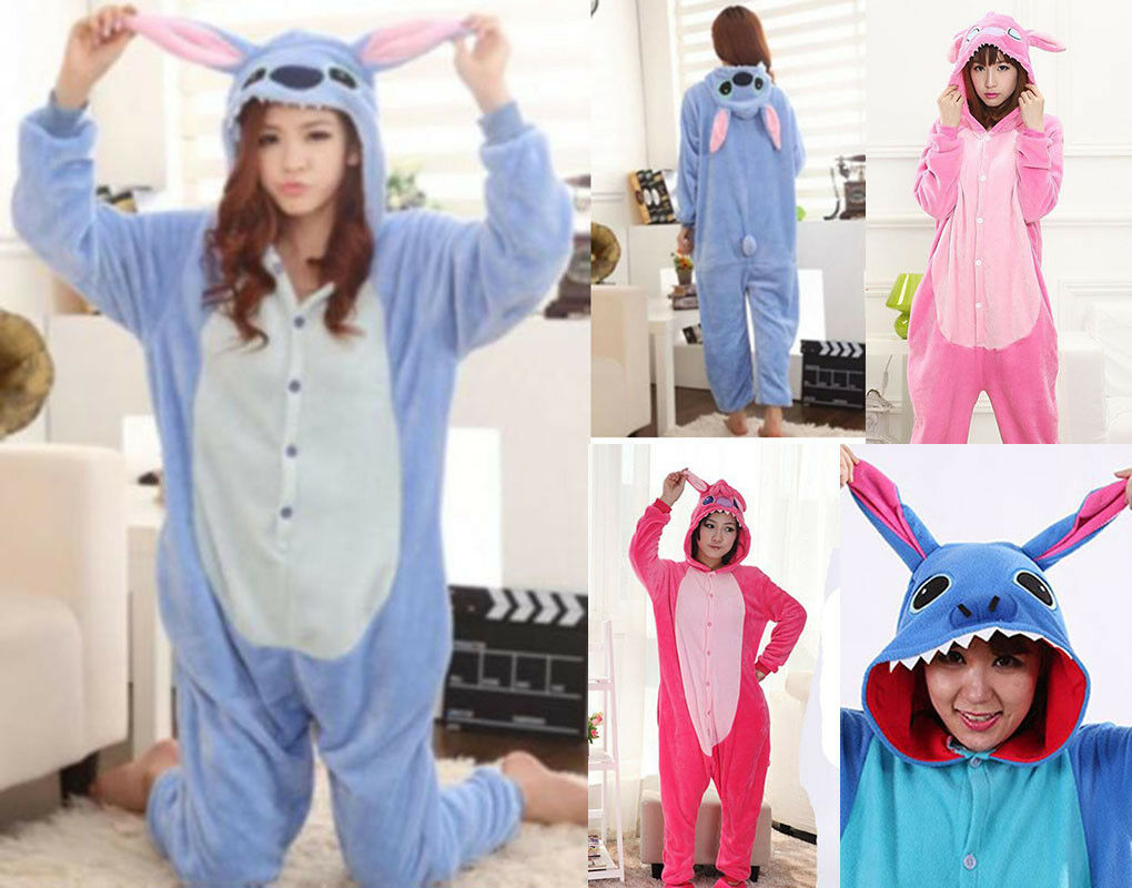 Pigiama kigurumi stitch costume carnevale adulti cosplay animali tuta party 