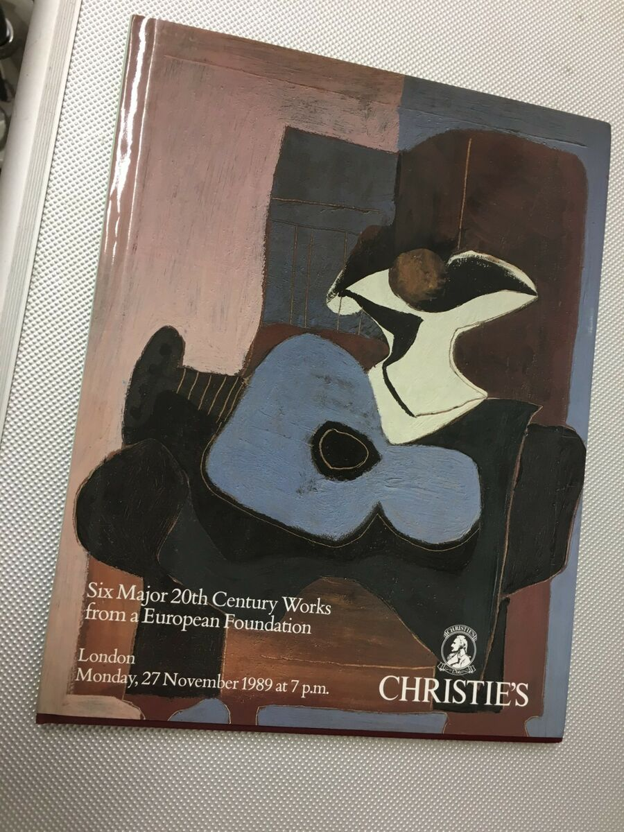 Christie s london 1989 six major 20 th century works from european foundation 