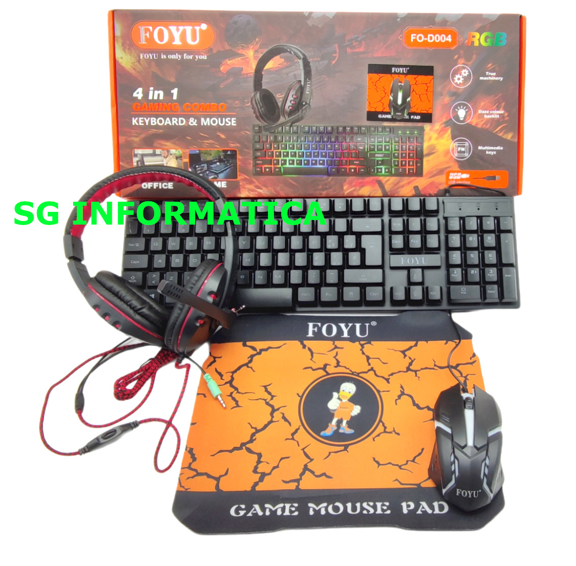 Kit gaming trust tastiera pc gaming mouse gaming cuffie gaming bundle 4 in 1 Prezzo: € 34,89