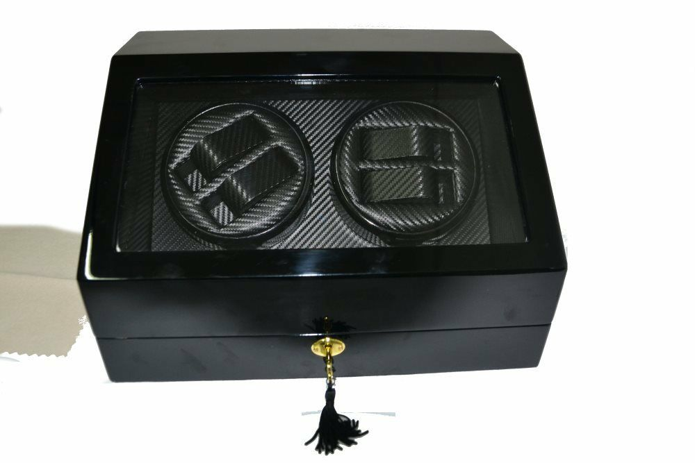 Watch winder con 2 rotori per 4 orologi in movimento 6 fissi art ww2001 