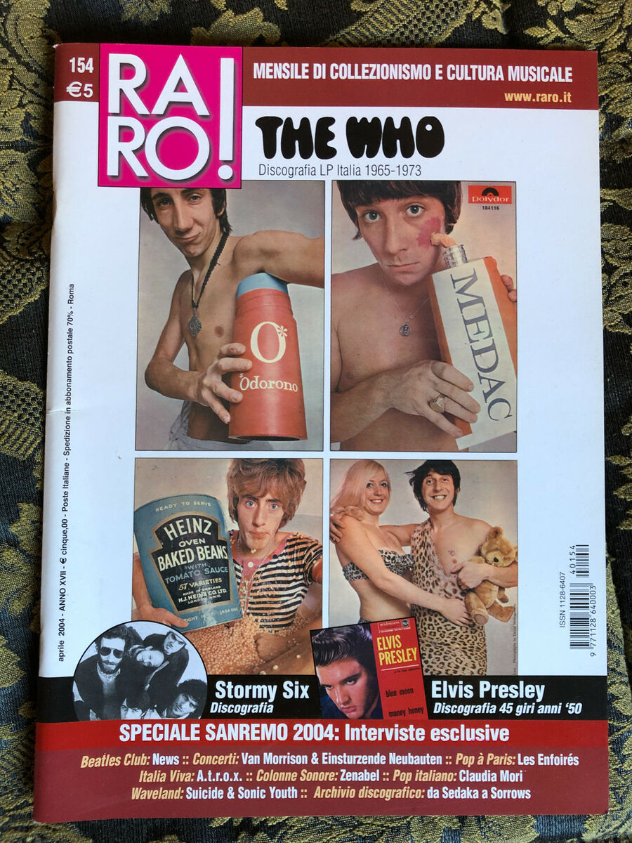 Raro 154 magazine about discography ps the who elvis sanremo 2004 stormy six 