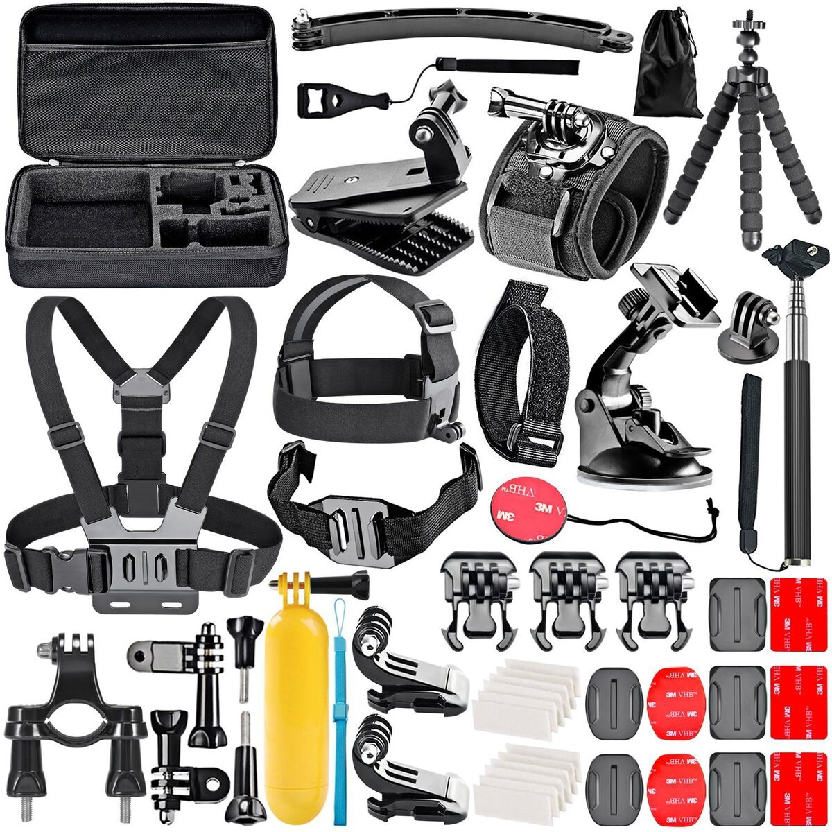 50 in 1 accessori kit per gopro hero session 5 hero 1 2 3 3 4 5 sj4000 5000 600 