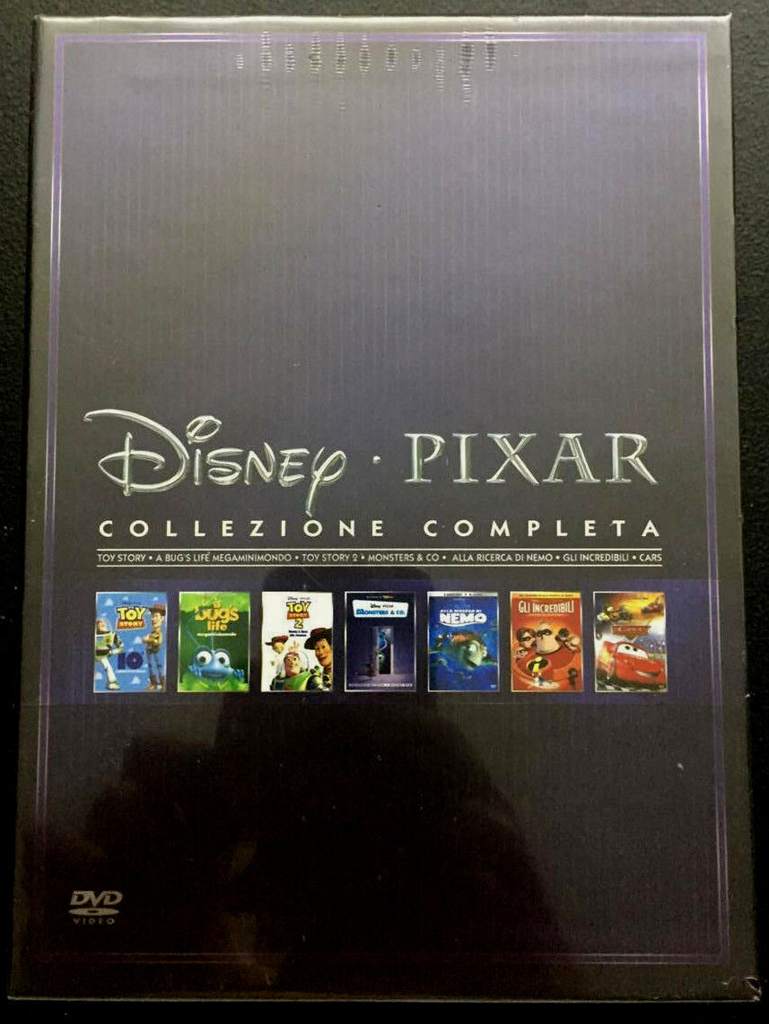 Disney pixar complete collection 7 film 10 dvd con ologramma oro 