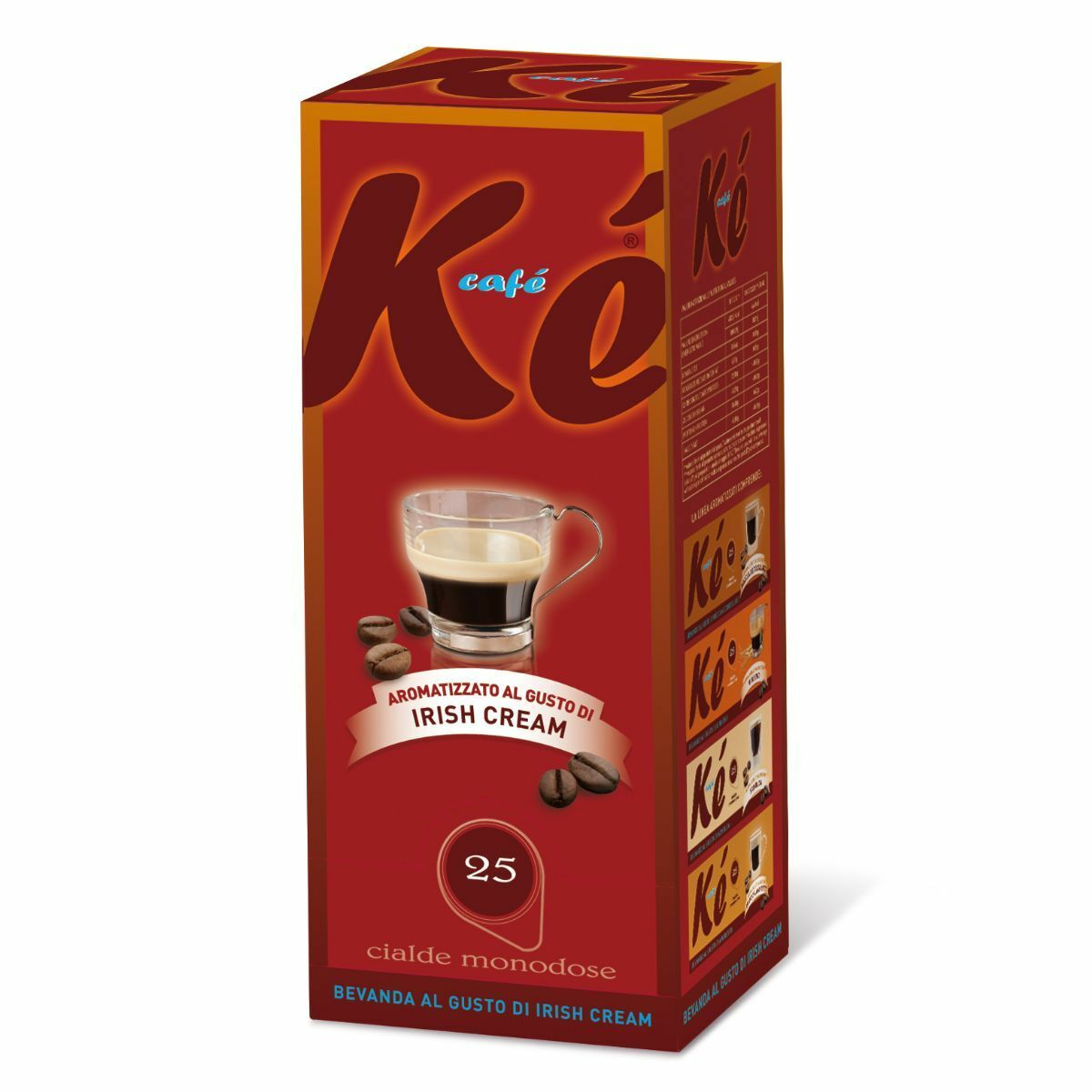 50 cialde caffe ke cafe molinari miscela irish cream ese 44 mm 