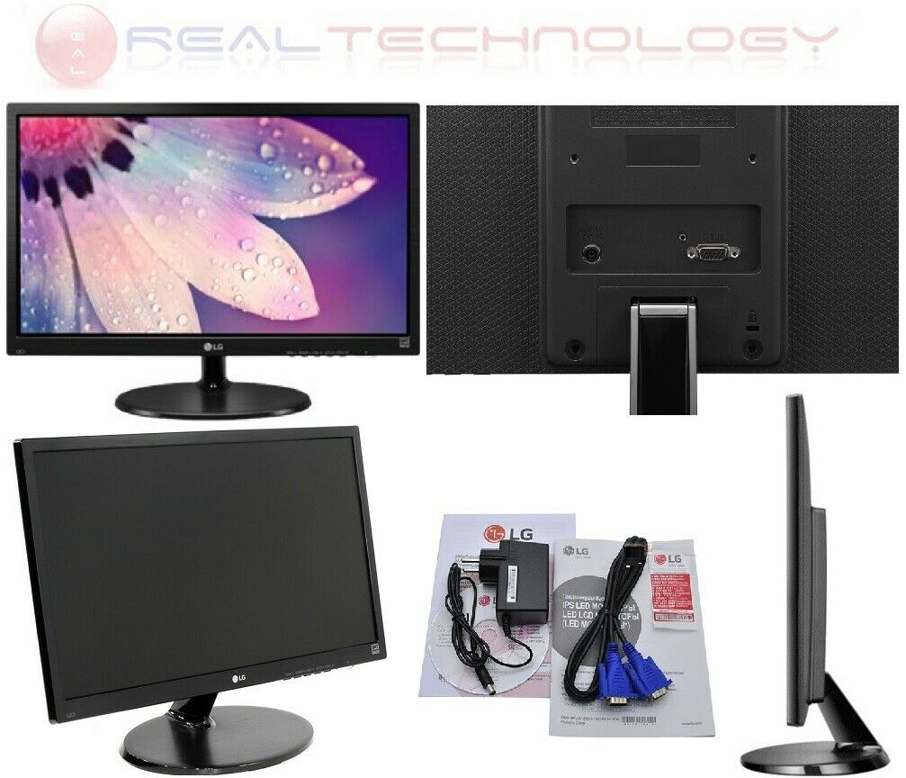 Monitor led pc 22 pollici lg full hd 1920x1080p attacco vesa vga ultra slim 