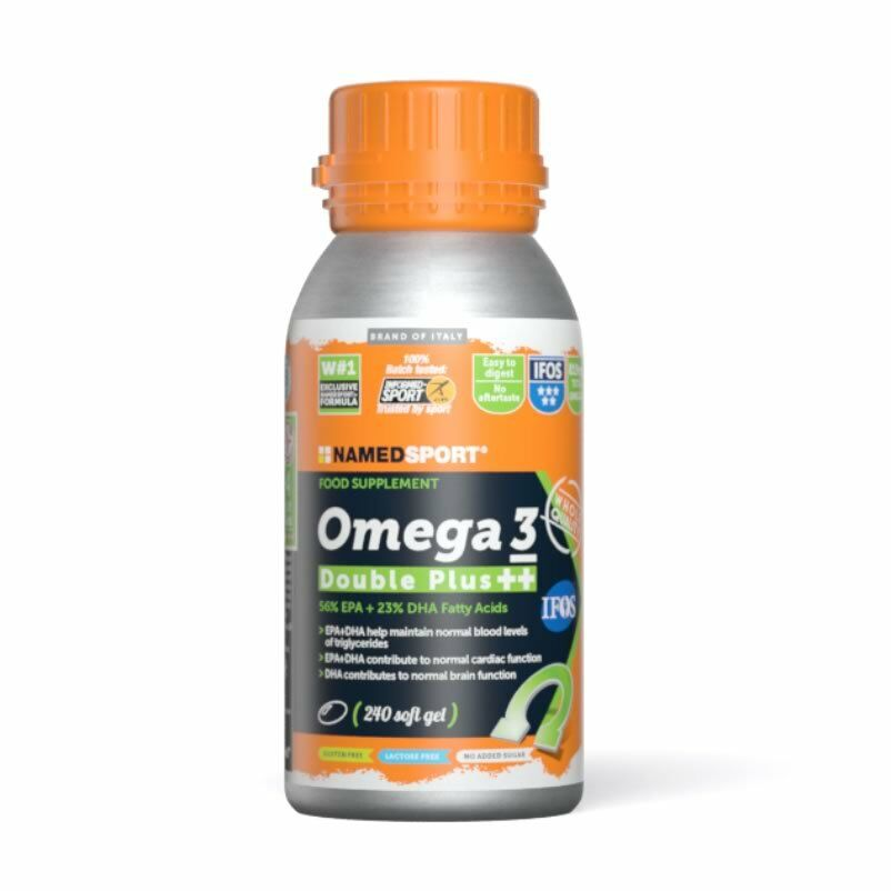 Named sport omega 3 double plus 240 softgel di acidi grassi epa e dha 