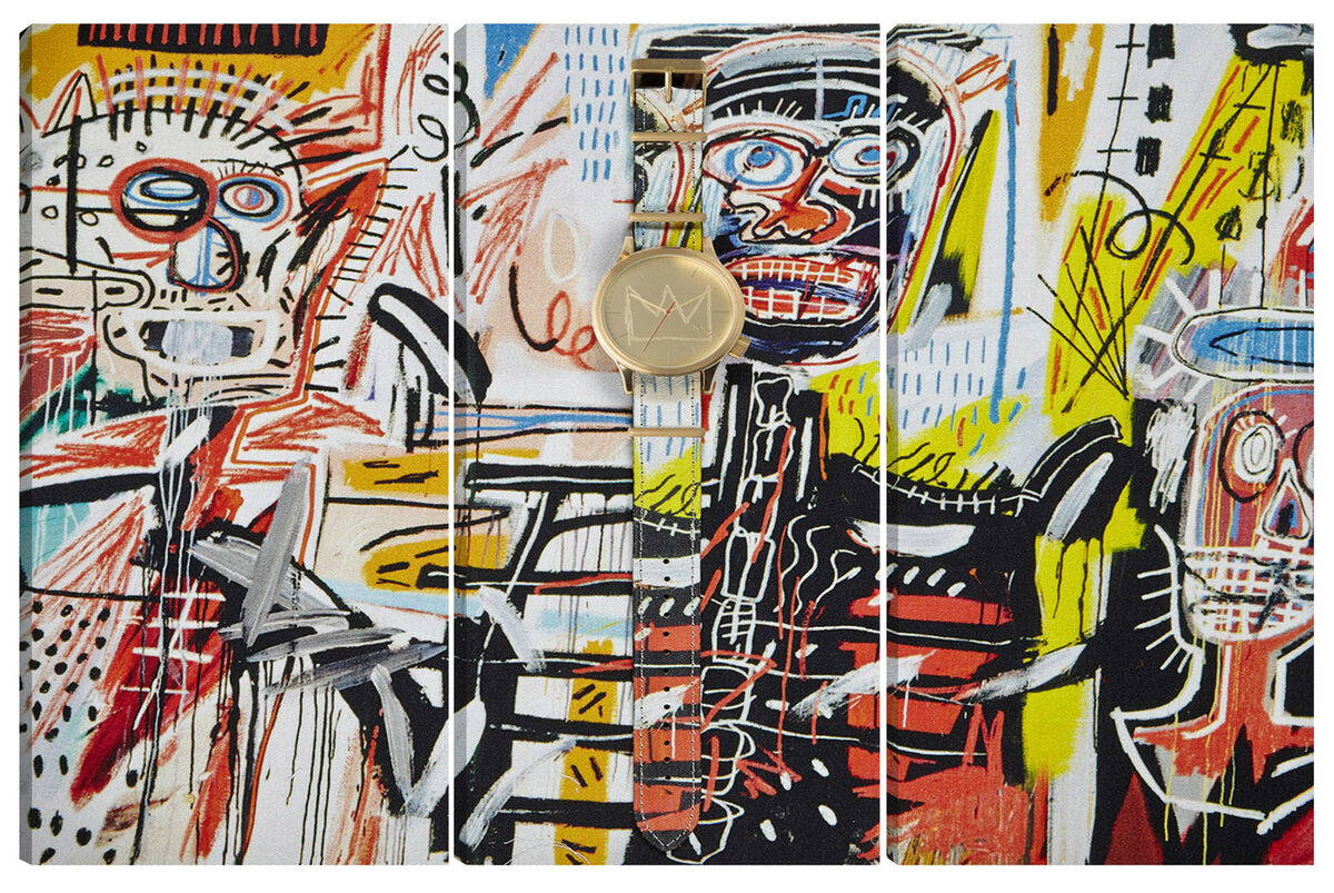 Quadro moderno astratto art arredamento 95x150 basquiat tela abstract graffiti 
