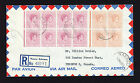 1955 Bahamas cover with 0 5d and 1 5d blocks from Nassau to Toronto Canada Env Prezzo: € 22,63