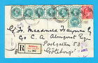1902 colourful mixed reign stamp cover from London to G teborg Gothenburg Sweden Prezzo: € 77,46
