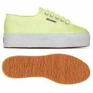 SUPERGA 2790 Zeppa SCARPE donna 4cm ACOTW UP AND DOWN sunny Lime News D37qqix