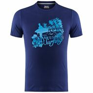 KAPPA T-SHIRT Uomo Run To The Waves Surfing WIRU spiaggia MC.CORTA blu News 193x