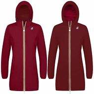 K-WAY VIRGINIE PLUS DOUBLE giacca DONNA Lunga 3/4 IMPERMEABILE PRV/EST KWAY 970h