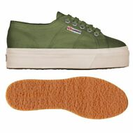 SUPERGA 2790 zeppa SCARPE DONNA 4CM ACOTW UP AND DOWN Verde OLIVA Negozio B63llj
