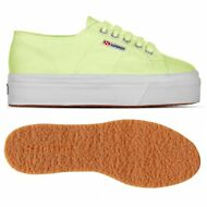 SUPERGA 2790 zeppa SCARPE DONNA 4cm Acotw UP AND DOWN sunny LIME prv/est D37shyx