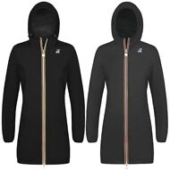 K-WAY giacca DONNA Lunga 3/4 VIRGINIE PLUS DOUBLE IMPERMEABILE KWAY Nuovo A20kfg