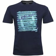 mc.corta spiaggia beach t-shirt UOMO KAPPA Run To The Waves Surf WANTY Blu 193uq