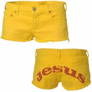 JESUS JEANS HOT pants DONNA pantaloncini MARIA SHORT Giallo Urban New News 00Ylk