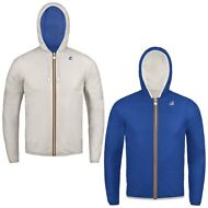 K-WAY reverse giacca UOMO CAPPUCCIO JACQUES PLUS DOUBLE KWAY IMPERMEABILE 998yhj