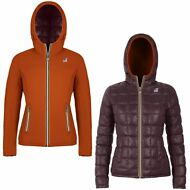 K-WAY Imbottita reverse giacca DONNA CAPPUCCIO LILY THERMO PLUS DOUBLE KWAY 985u