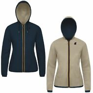 K-WAY giacca reverse DONNA leggera CAPPUCCIO KWAY LILY KL AIR DOUBLE PELLE 981wi