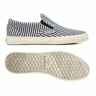 SUPERGA SLIP on Uomo Donna 2311 COTSTRIPEDU mocassino blu BIANCO NEW Nuovo A25ot