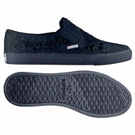 SUPERGA slip on DONNA mocassini pizzo Macrame blu 2311 MACRAMEW NEW Moda 081vazw