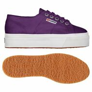 SUPERGA 2790 Zeppa Scarpe DONNA 4cm ACOTW UP AND DOWN PRUGNA prv/est Nuovo AF9cx
