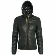 K-WAY giacca IMBOTTITA DONNA LILY KL AIR THERMO vera pelle AUT/INV KWAY F79errew