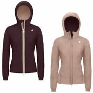 K-WAY LILY DOUBLE giubbotto reverse giacca DONNA KWAY CAPPUCCIO Imbottitura 924l
