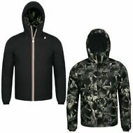 K-WAY reverse GIACCA UOMO KWAY CORTA CAPPUCCIO JACQUES WARM DOUBLE GRAPHIC 910nf